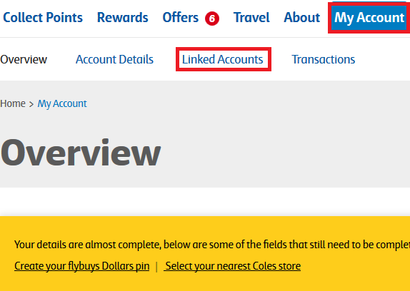 how to link flybuys and velocity accounts