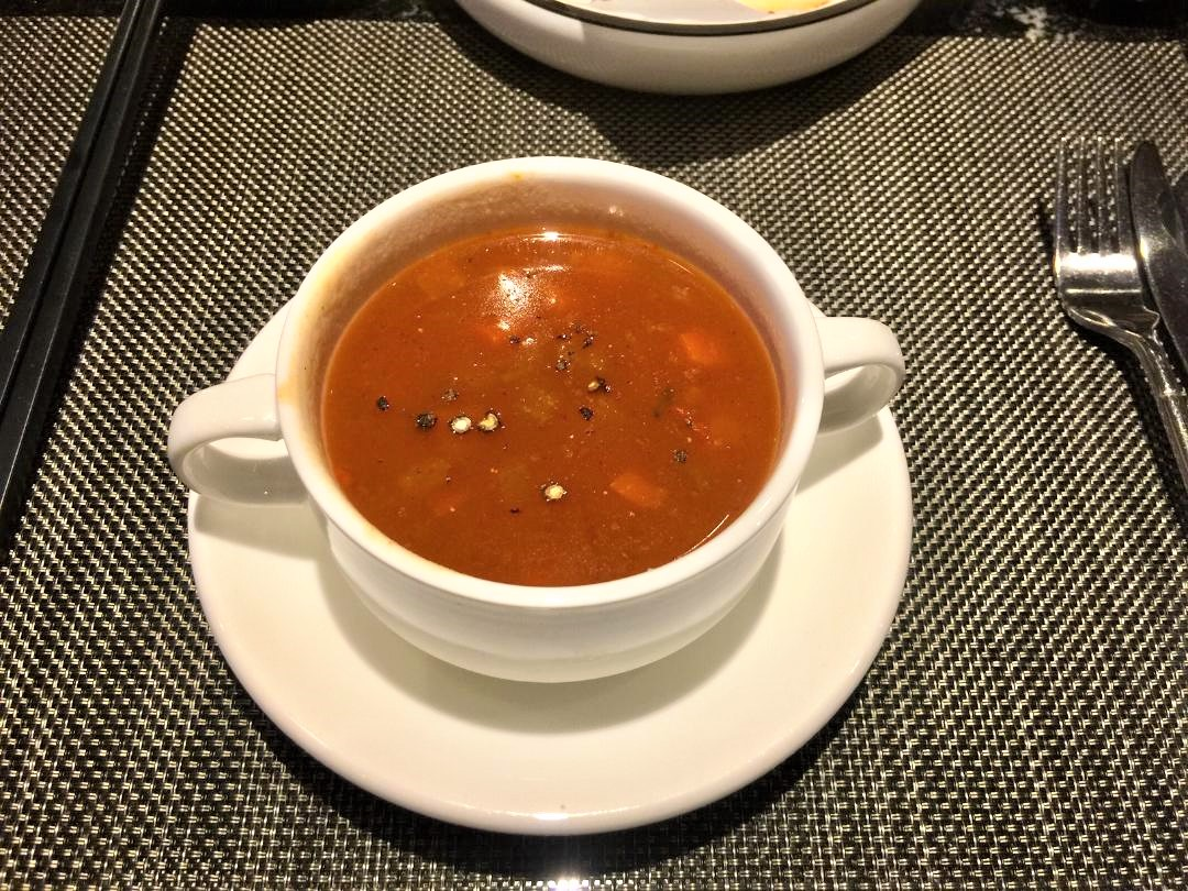 Plaza Premium First Lounge, Vegetable & Barley Soup